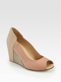 Maison Martin Margiela MM6 - Court Leather Wedge Pumps