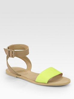 Maison Martin Margiela MM6 - Bicolor Leather Ankle Strap Sandals