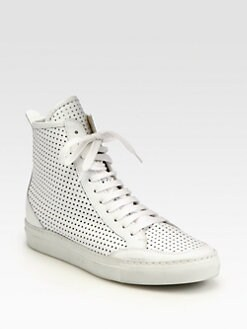 Maison Martin Margiela MM6 - Perforated Leather Lace-Up Sneakers