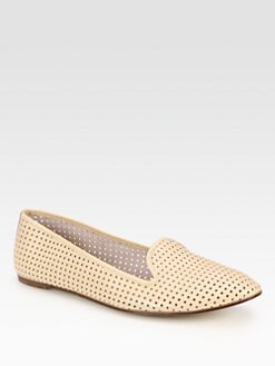 Maison Martin Margiela MM6 - Perforated Leather Smoking Slippers