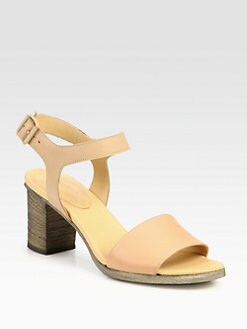 Maison Martin Margiela MM6 - Leather Ankle Strap Sandals