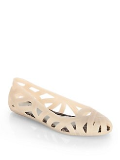Melissa - Melissa Jean and Jason Wu Woven Jelly Ballet Flats