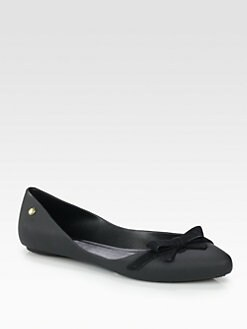 Melissa - Melissa Trippy Bow-Trimmed Jelly Ballet Flats