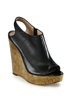 Jean-Michel Cazabat - Waverly Leather Cork Wedge Sandals