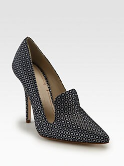 Elizabeth and James - Stela Silk Jacquard Pumps