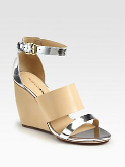 Rebecca Minkoff - Stella Leather Wedge Sandals