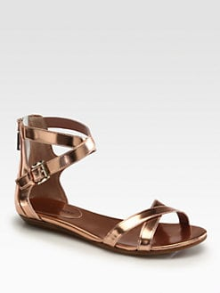 Rebecca Minkoff - Bettina Metallic Leather Sandals