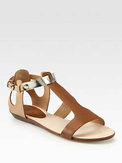 Rebecca Minkoff - Bardot Leather T-Strap Sandals