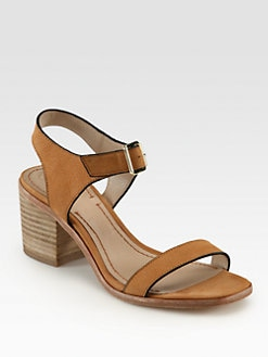 Elizabeth and James - Ryann Leather Ankle Strap Sandals