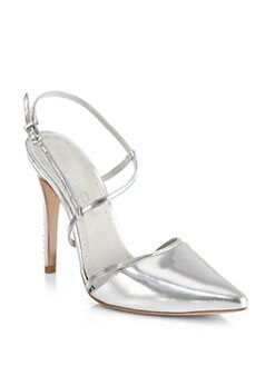 Alice + Olivia - Davey Mirrored Leather d'Orsay Pumps