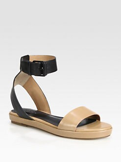 Vince - Abbey Leather Ankle Strap Sandals