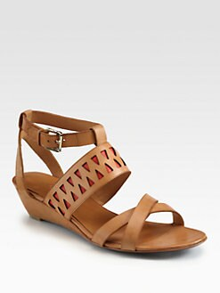 Rebecca Minkoff - Lupe Leather Cutout Wedge Sandals