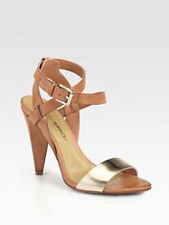 Rebecca Minkoff - Marsha Leather Ankle Strap Sandals