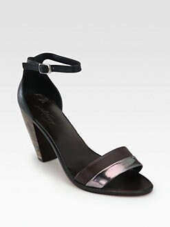Rachel Comey - Bridges Leather & Metallic Leather Ankle Strap Sandals