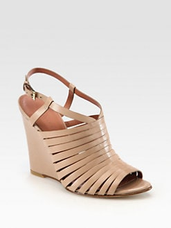 Sigerson Morrison - Fabiana Leather Wedge Sandals