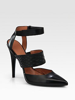 Sigerson Morrison - Brielle Snake-Print Leather Ankle Strap Pumps