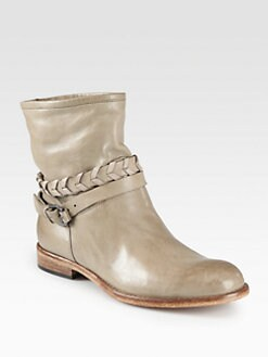 Alberto Fermani - Milana Leather Braided-Detail Boots