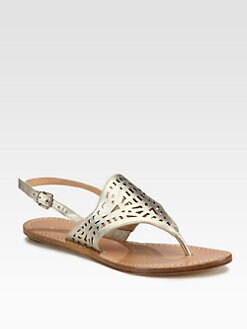 Belle by Sigerson Morrison - Raizal Metallic Leather Thong Sandals