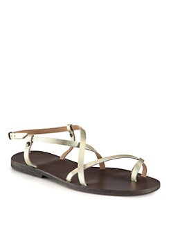 Ishvara - Ibiza Metallic Leather Sandals