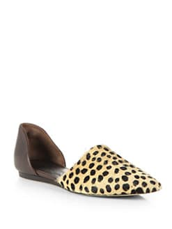 Jenni Kayne - Cheetah-Print Calf Hair & Leather d'Orsay Flats