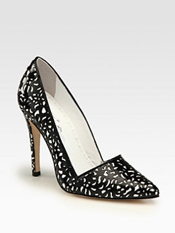 Alice + Olivia - Dina Patent Leather Cutout Pumps
