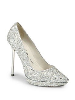 Alice + Olivia - Danny Glitter Platform Pumps