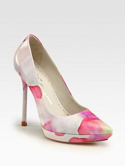 Alice + Olivia - Danny Watercolor Patent Leather Pumps