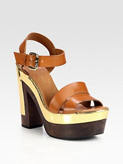 Diane von Furstenberg - Roxana Leather Platform Sandals
