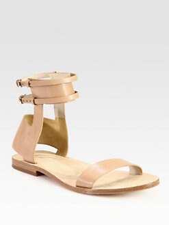 Alexander Wang - Alek Leather Ankle Strap Sandals