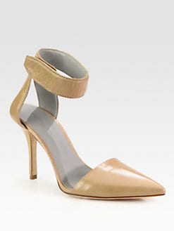 Alexander Wang - Liya Leather Ankle Strap Pumps