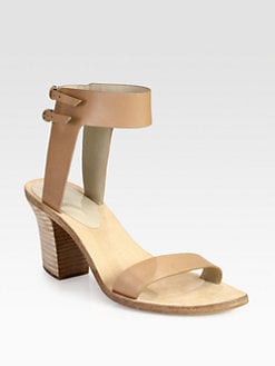 Alexander Wang - Ariel Leather Ankle Strap Sandals