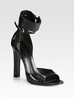 Alexander Wang - Aminata Lizard-Print Leather Sandals