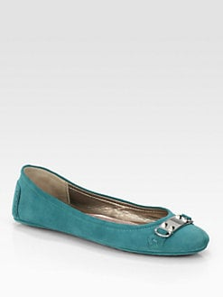 Elie Tahari - Madison Suede Ballet Flats