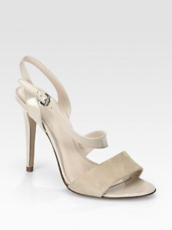 Elie Tahari - Sasha Patent Leather & Suede Sandals