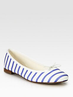 Repetto - BB Striped Canvas Ballet Flats