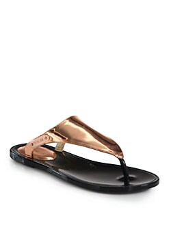 Rachel Zoe - Cami Metallic Leather Thong Sandals