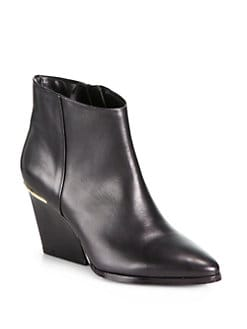 Boutique 9 - Isoke Western Leather Wedge Ankle Boots