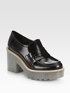 Acne - Taurus Glitter Platform Loafer Pumps