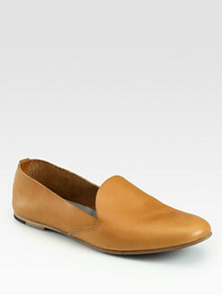 Acne - Kyra Leather Smoking Slippers