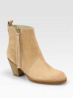Acne - Pistol Suede Ankle Boots