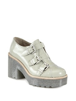Acne - Mia Leather Platform Loafers