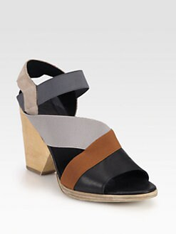 VPL by LD Tuttle - Canvas, Leather & Suede Slingback Sandals