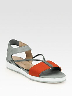 VPL by LD Tuttle - Canvas & Suede Flat Sandals