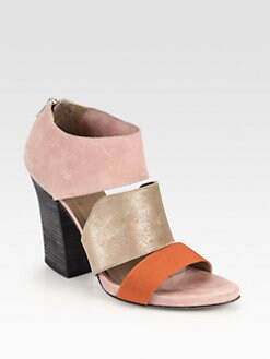 VPL by LD Tuttle - Canvas, Leather & Suede Back Zip Sandals