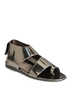 LD Tuttle - Watch Metallic Leather Sandals