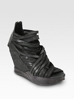 LD Tuttle - Ruin Distressed Leather Wedge Ankle Boots