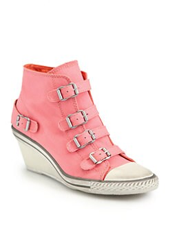 Ash - Genial Canvas Wedge Sneakers