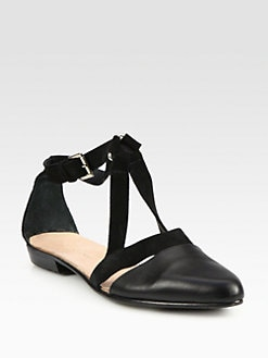 Surface To Air - Miami Leather & Suede Ankle Strap Sandals