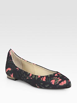 McQ Alexander McQueen - Abstract Floral-Print Canvas Flats