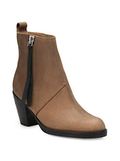 Acne - Contrast Pistol Leather Ankle Boots